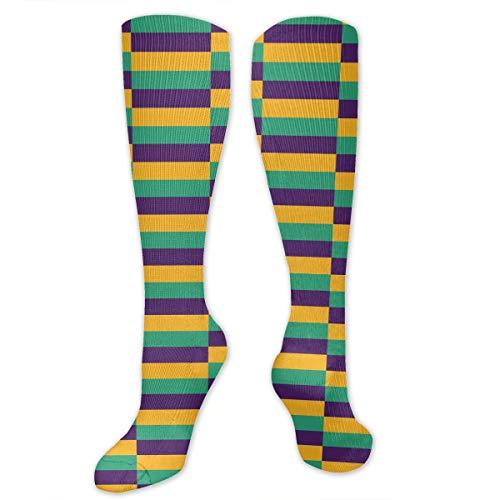 Women Girls, Mardi Gras Jester, Dress Cotton Socks Fashion Patterned Socks - Formal Business Socks Classic Casual Socks for Kids ()