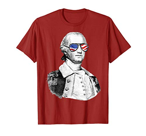 George Washington July 4th Founding Father Patriotic T-Shirt