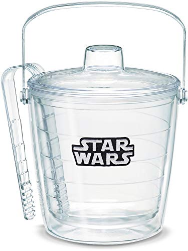 Tervis 1072652 Star Wars - Logo Insulated Ice Bucket and Tongs with Emblem and Clear Lid - Boxed 87 oz