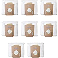 Monland 8Pcs for DEEBOT OZMO T8 Robot Vacuum Cleaner High Capacity Leakproof Dust Bag Replacement Accessories Parts Kit