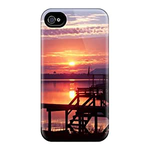 New RbcNVkG7586iapDN Morning At The Lake Tpu Cover Case For Iphone 4/4s