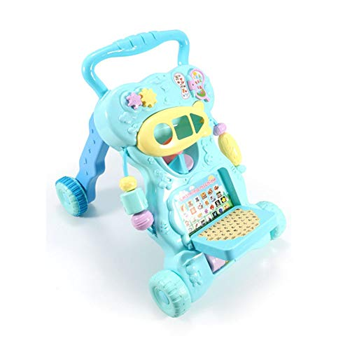 Ybriefbag-Toys Baby Three-in-one Activity Walker Infant and Child Anti-Rollover Walker 6-18 Months Baby Multi-Function Walker Trolley Toy (Color : Blue, Size : 42.34533.5CM) by Ybriefbag-Toys (Image #5)