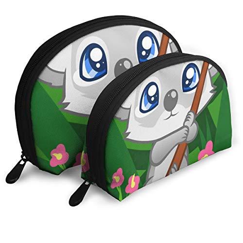 (Pouch Zipper Toiletry Organizer Travel Makeup Clutch Bag Cartoon Koala Bear Portable Bags Storage Bags )
