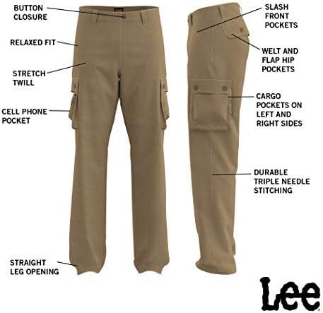 Lee Wyoming Pantalon cargo pour homme Coupe décontractée - noir - 33W x 34L