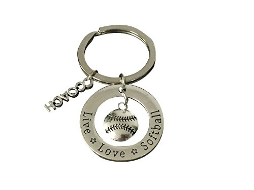 Softball Coach Keychain, Softball Gift, Softball Jewelry, Perfect Softball Coach Gifts (Softball Gifts Coach)
