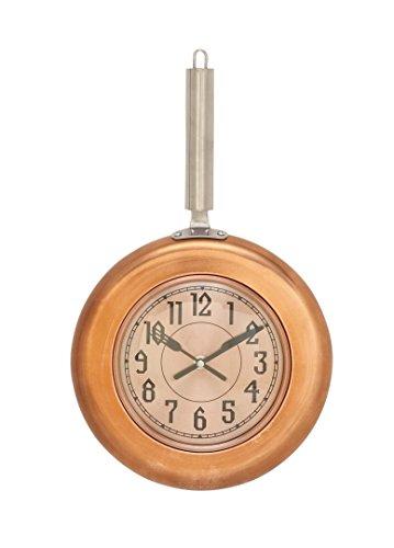 Deco 79 98440 Copper Iron Wall Clock, 17