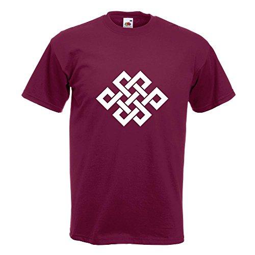 Noeud Bouddhiste Kiwistar 15 M Coton Bourgogne S Couleurs Motif Homme Xl En Xxl Fun L T shirt Imprimé Différentes gqqZ5d