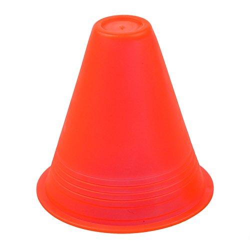 slalom cones - SODIAL(R) 5pcs 3 inches cones for Slalom Skate Roller-Skating - Red (Roller Skating Cone)