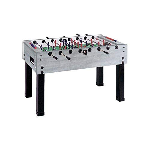 Garlando G-500 Grey Oak Foosball Table with Telescoping Steel Rods and Steel Ball Bearings. Includes...
