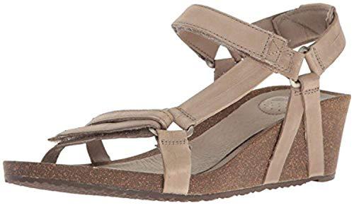 (Beach Bundle: Teva Women's Ysidro Universal Wedge Sandals Taupe 06 & Beach Mat)