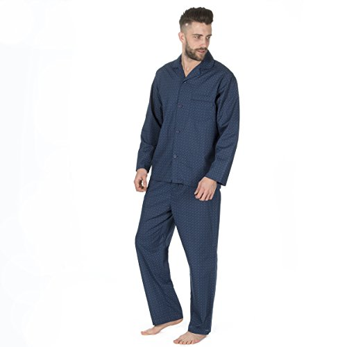 Men's Traditional 2 Piece Pajama Set (Sizes S-2XL) Polycotton Top Elasticated PJ - Bay Summer Set