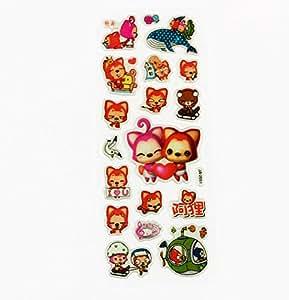 The Little Red Fox PVC Sticker A009