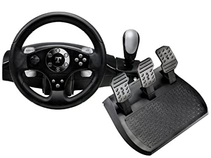 Thrustmaster RGT FFB Clutch - Volante/mando (Ruedas + Pedales, PC, Playstation
