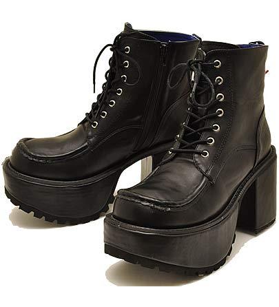 [不明] [ヨースケ] YOSUKE U.S.A ヨースケ 厚底 ブーツ メンズ レースアップヒールブーツ メンズ 靴27.0cm ブラック
