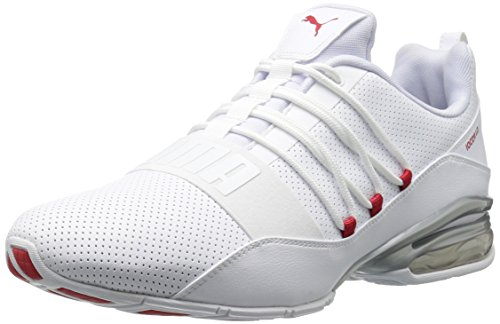 PUMA Men's Cell Regulate SL Sneaker, White-High Risk Red, 13 M US