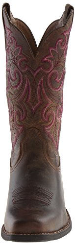 Boot Powder Ariat Western Up Place Toe Brown Round qwaHpBI