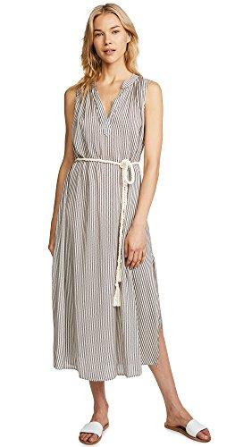 Eberjey Women's Sea Stripe Russel Dress, Natural/Black, (Eberjey Natural)