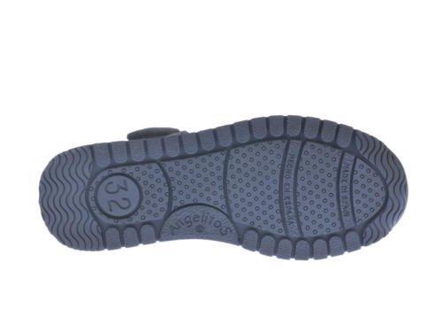 Sandalias Deportivas para Niños, Todo Piel mod.449. Calzado Infantil Made in Spain, Garantia de Calidad. Azul Marino