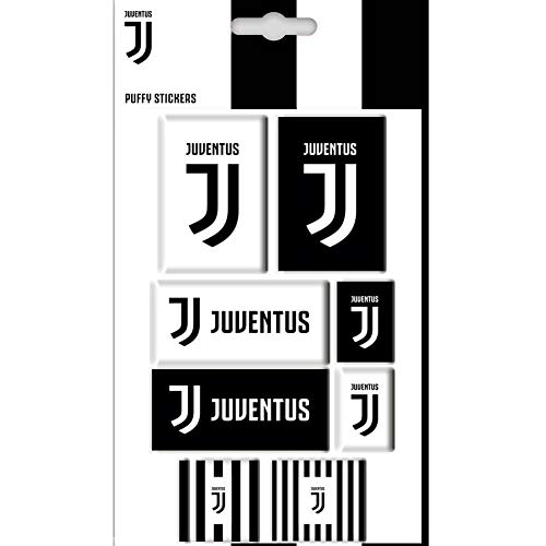 Juventus FC Bubble Sticker Set (One Size) (White/Black)