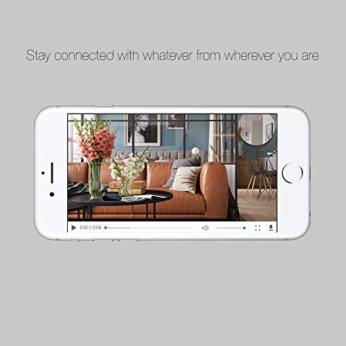 Hidden Camera WiFi Spy Camera,HOSUKU Clock 1080P Hidden Cameras Wireless IP Surveillance Camera for Home Security Monitor Video Recorder Nanny Cam 140°Angle Night Vision Motion Detection by HOSUKU (Image #3)