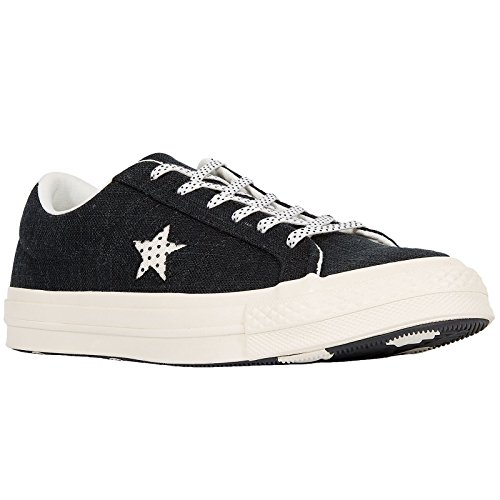 Converse Unisex Adults' Lifestyle One Star Ox Suede Fitness Shoes, Black Black Egret