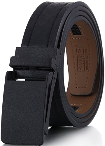 Square Buckle Belt (Marino Genuine Leather belt for Men, 1.3/8