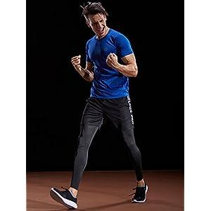 Neleus Men's 3 Pack Mesh Athletic Running Sport Shirt,5033,Black,Blue,Grey,US L,EU XL