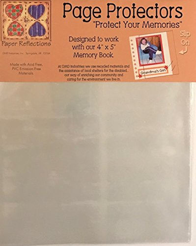 """Paper Reflections Slip-On Page Protectors 3-Pack- Designed to Work with 4""""x5"""" Memory Book- 3 Packs of 10 Sheets"""