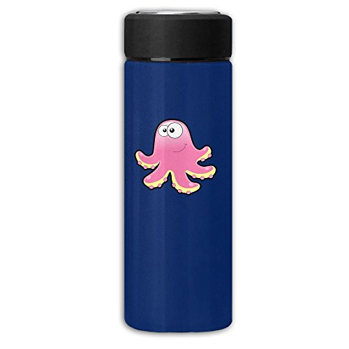 Pink Octopus Dull Polish Business Vacuum Cup Stainless Cup,Man Carried Water Bottle