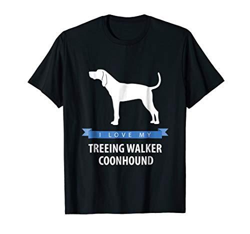 (I Love My Treeing Walker Coonhound Shirt)