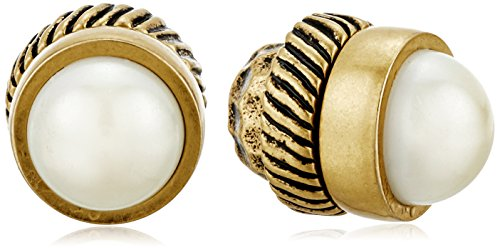 Marc Jacobs Pearl Cabochon Magnetic Stud Earrings