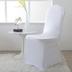 Lewing Polyester Spandex Chair Covers Set of 4pcs and 12pcs