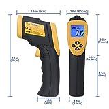 Etekcity Lasergrip 800 Digital Infrared Thermometer Laser Temperature Gun Non-contact -58℉ - 1382℉ (-50℃ to 750℃), Yellow/Black
