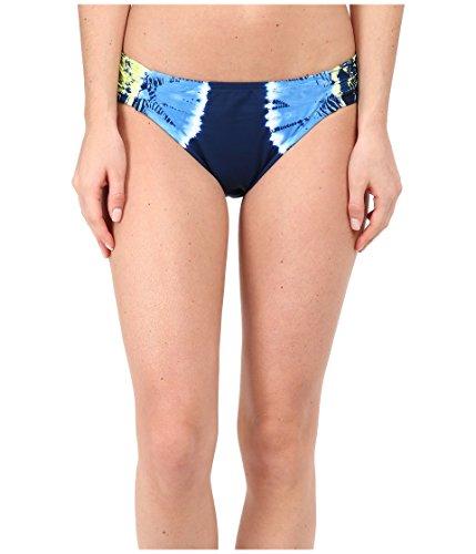 Lucky Brand Women's Half Moon Tie-Dye Tab Side Hipster Bikini Bottom, Indigo, Small