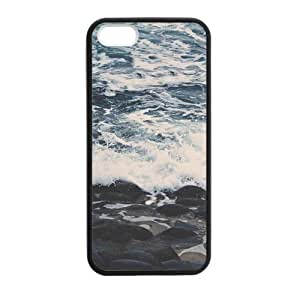 Canting_Good Sea Beautiful Beaches Custom Case Shell Skin for iPhone 5 5S TPU (Laser Technology)