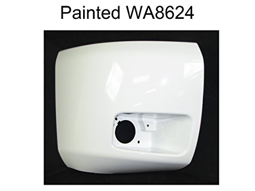 Painted WA8624 White FRONT BUMPER CAP WHITE W/HOLE RH GM1005