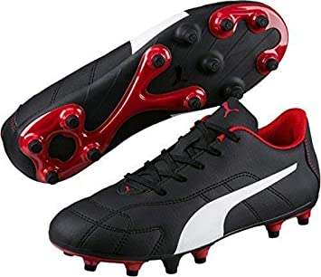 66e61bd60bee5 Only Sports rouage Puma Classico FG Chaussures de Football Junior  Noir Blanc Rouge (