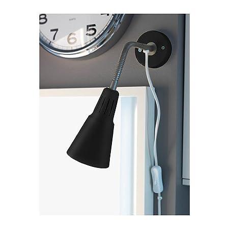 black IKEA KVART Wall//clamp spotlight