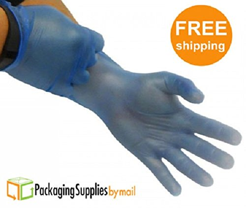 (24000 Pcs) Blue Vinyl Powder-Free 4.5 Mil Size-X-Large Non Medical Gloves 240 Boxes by PackagingSuppliesByMail