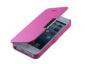 New Wallet Leather Hard Case Folio Pouch Front Cover For iPhone 5 5G 5th Pink