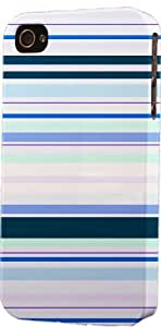 Blue Striped Pattern Dimensional Case Fits Apple iPhone 5 or iPhone 5s