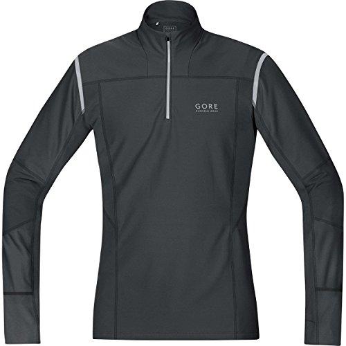 GORE RUNNING WEAR Herren Thermo-Langarm-Laufshirt, GORE Selected Fabrics, MYTHOS 2.0 Thermo Shirt, Größe M, Schwarz, SMYTTM