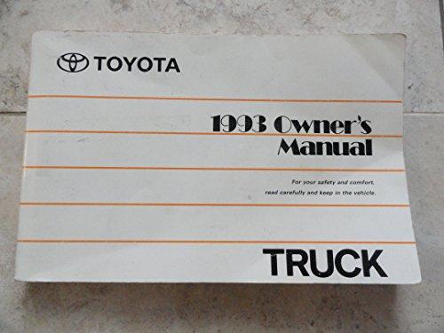 Original 1993 Toyota Truck Owners Manual