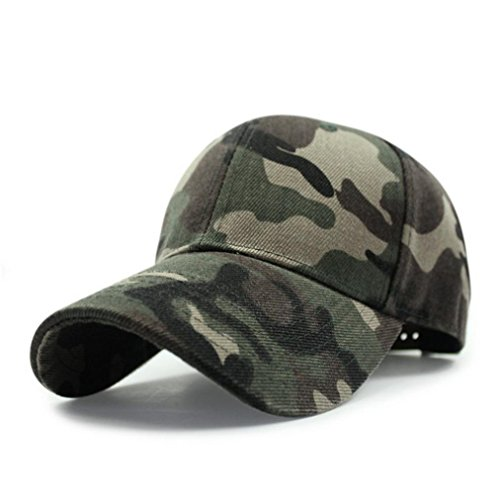 [Iuhan Fashion Unisex Camo Camouflage Baseball Cap Hip Hop Hat Flat (Camouflage)] (Baseball Costume Accessories)