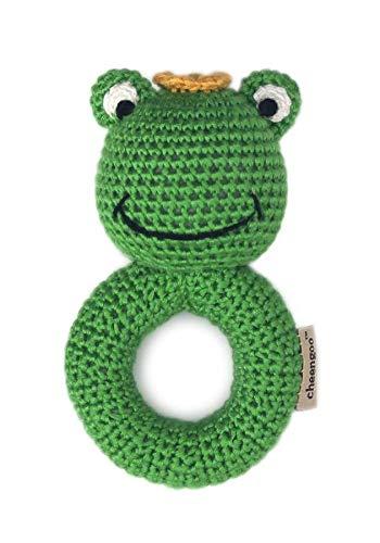 Cheengoo Organic Hand Crocheted Ring Rattle - Frog