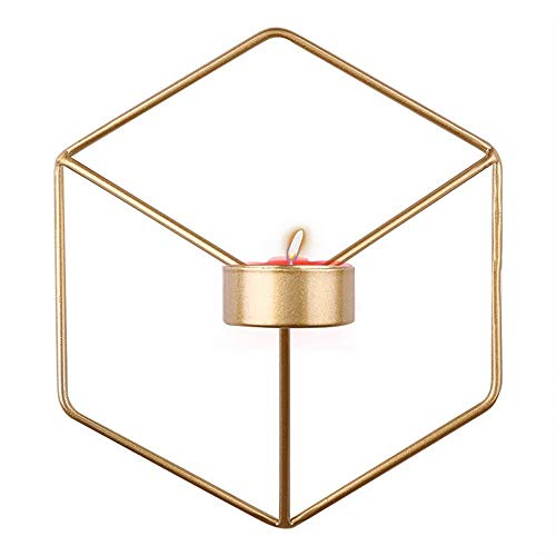 - XQXCL Fashion Home Decor 3D Geometric Candlestick Metal Wall Candle Holder Sconce