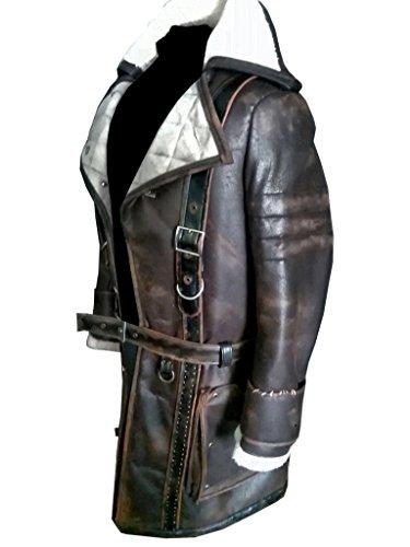 No Brand Fallout 4 Gamming Elder Maxson Brotherhood of Steel Battlecoat trench Leather Coat