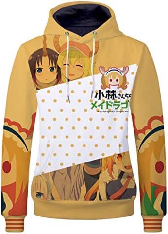 Cosplaybala Anime Miss Kobayashi`s Dragon Maid Sweatshirt Hoodies Cosplay Jacket (M Yellow)