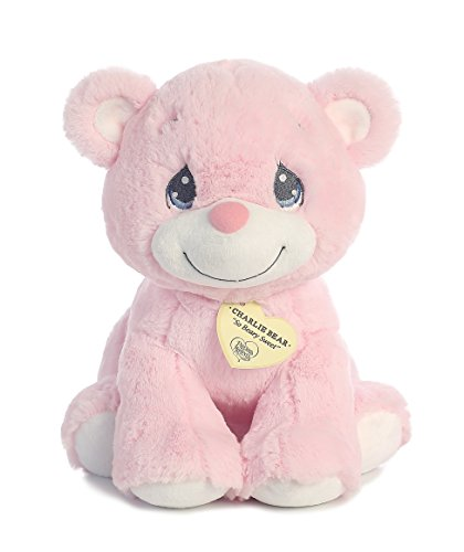 "Aurora World Precious Moments Charlie Bear, So Beary Sweet, Pink, 12"" from Aurora"