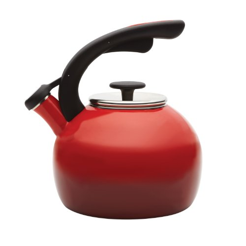 Rachael Ray Teakettles 2-Quart Crescent Kettle, Gradient Red